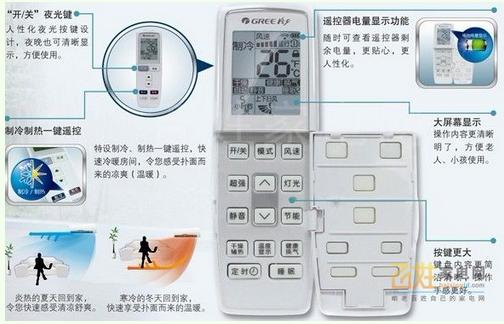 格力空调遥控器怎么使用图片
