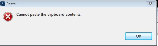 can not paste the clipboard contents这是什么意思