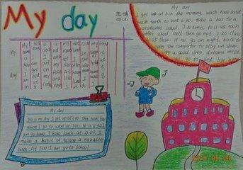 小学四年级下英语手抄报
