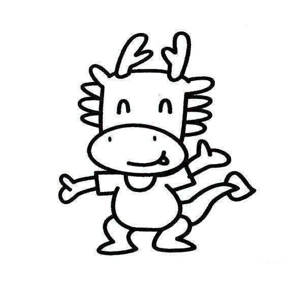 """""""龙""""的简笔画怎么画?"""