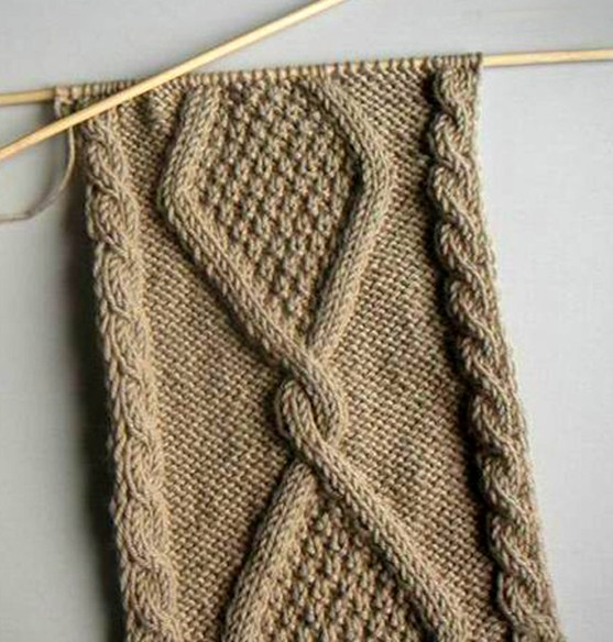 这种围巾的花样应该怎么织?