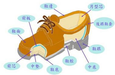 鞋子的结构有哪些?