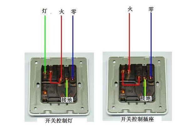 展开全部 开关控制插座:火线接开关l,从开关l1接线到插座l,零线接n