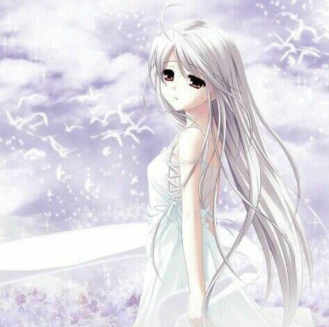 女生最好是白色头发,表情要麻木点,可以是侧面流泪的.