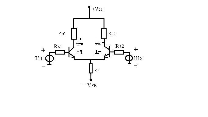 双端输入双端输出差分放大电路怎么连入电路?
