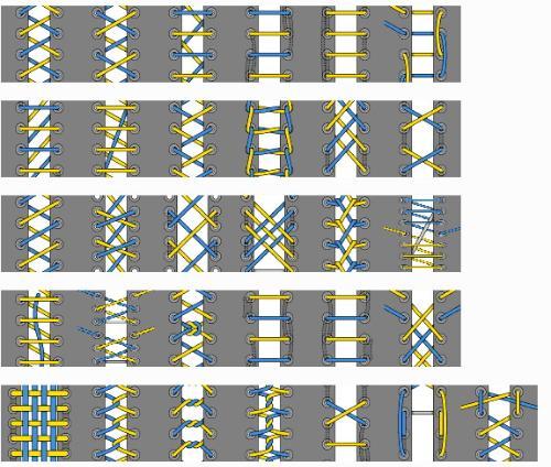 5孔鞋带的系法图解.要图的(0.0)