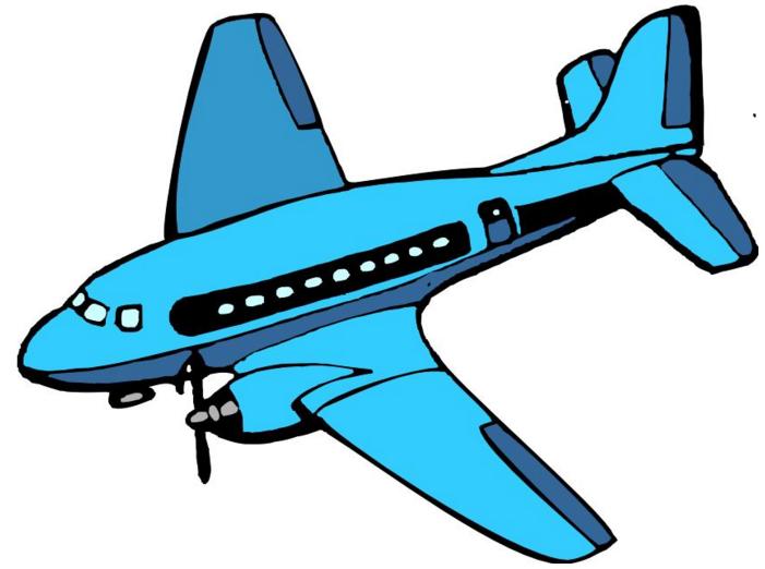 简笔画飞机是什么颜色