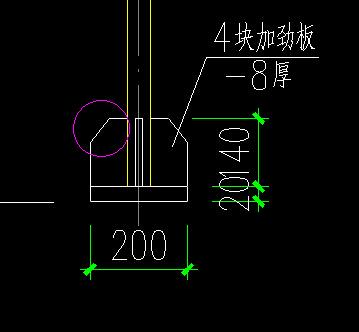 钢结构基础锚栓详图中,柱脚板下设调节螺母