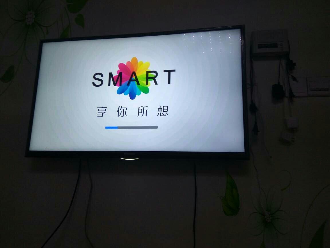 海信电视led42k360j卡在了开机画面,如图.重启也不管!图片