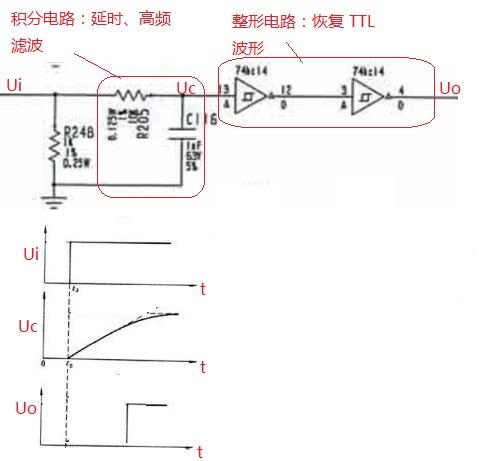 htm 整个电路的作用是信号延时,延时时间由电容量决定,串联电阻不能