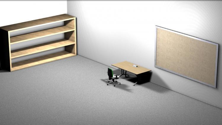 电脑壁纸书桌手绘