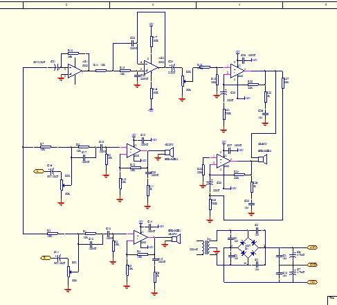 晶体管音频单端功放电路图
