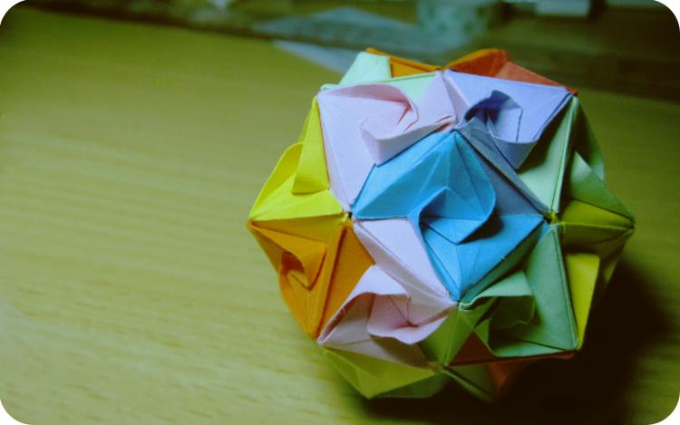 求折纸花球教程(有图,求速解)