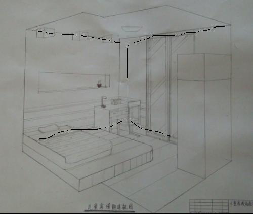 一点透视卧室步骤图