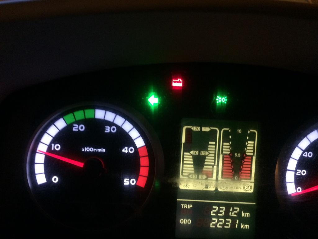 重汽豪沃悍将仪表盘图解 这个红色标志是什么意思啊 急急急!