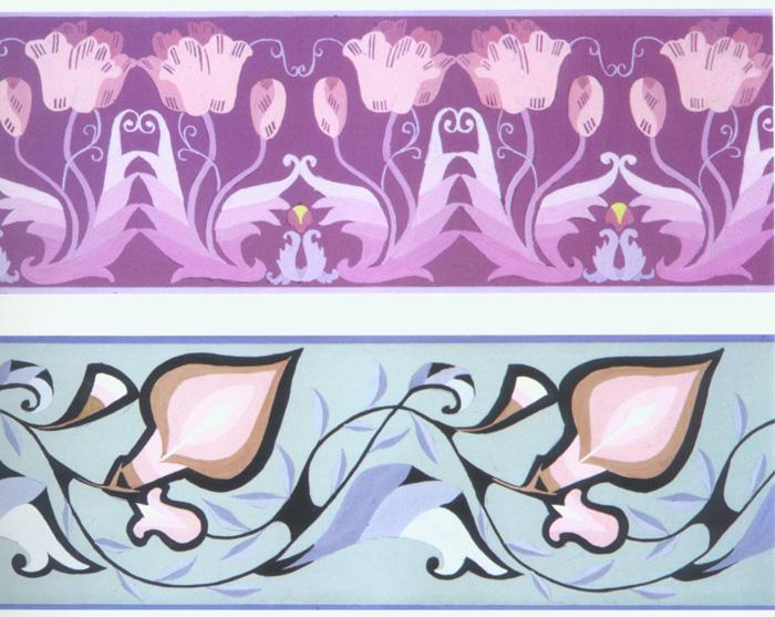 二方连续或四方连续的纹样的图片(最好是美术书上的图片,波状式,散点图片
