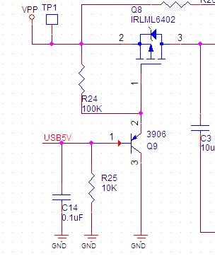 关于一个电源电子开关的电路分析.用pnp和pmos做的.