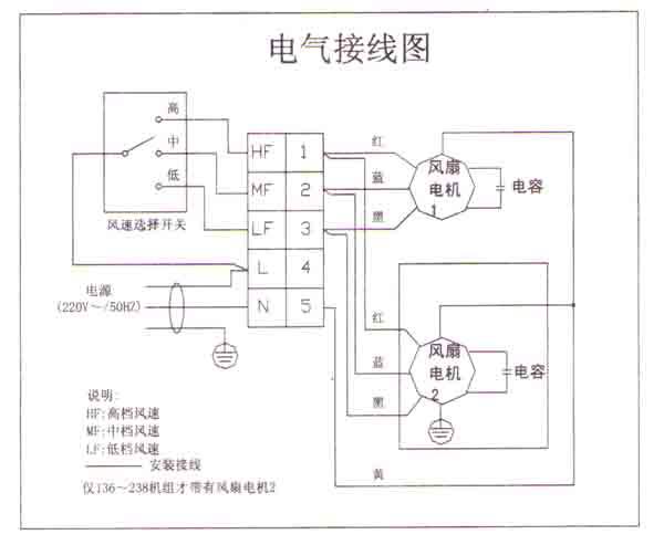 风机盘管的接线端子比较简单,电机高,中,低速档火线,零线; 只是如果