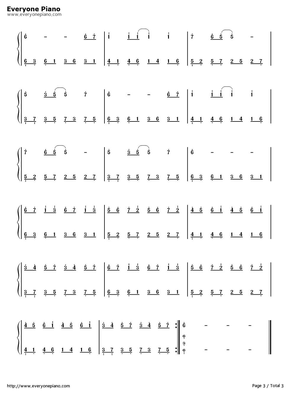 爱的供养钢琴数字简谱,带配音公式的