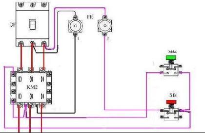 一个双联按钮开关 接触器接380v 11kw电机