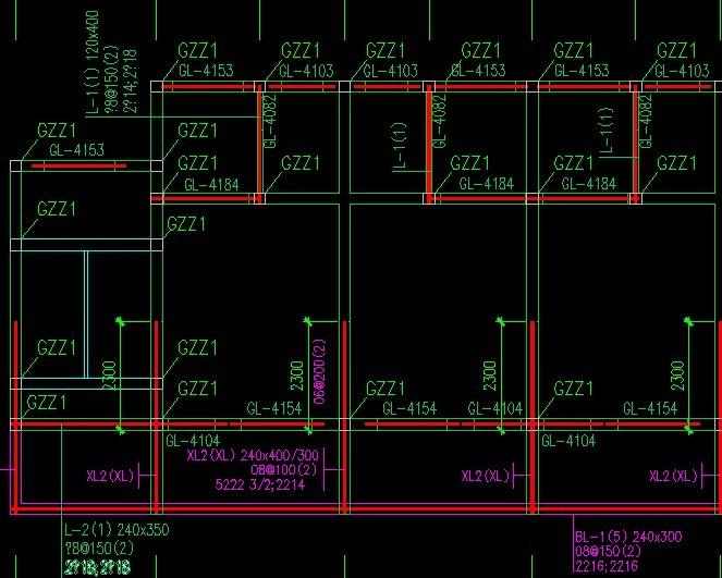 帮忙解释一下这幅图 是砖混结构的,这幅是梁柱配筋图