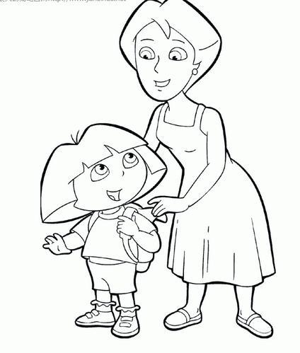 高清母亲手绘图