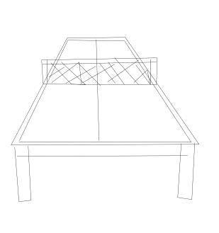 如何画乒乓球桌(简笔画)