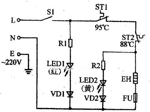 这是常见的饮水机电路图
