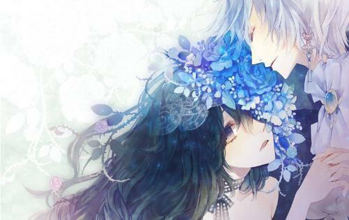 求一张动漫图片!女生在流泪,男生从后面抱住女声的唯美图片!