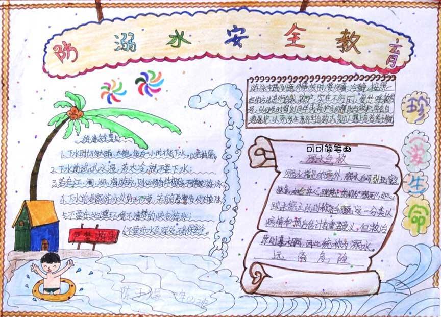 防溺水的安全教育的手抄报怎样写图片