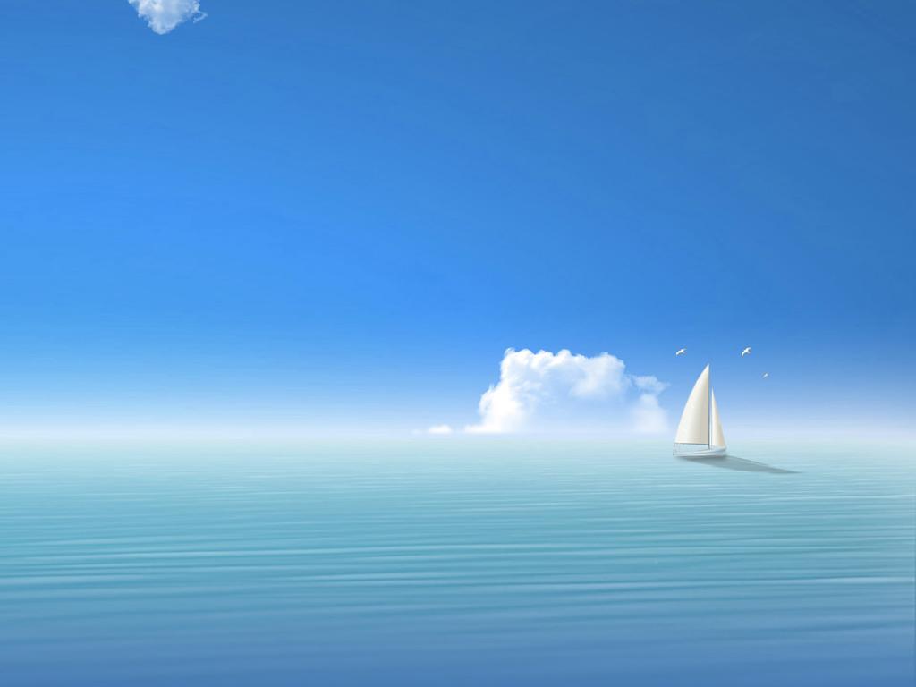 关于海天一色的壁纸 电脑桌面