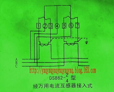 三相三线 两个电流互感器,与电度表的接法,最好有图