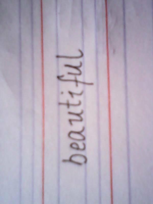 漂亮的英语单词怎么写