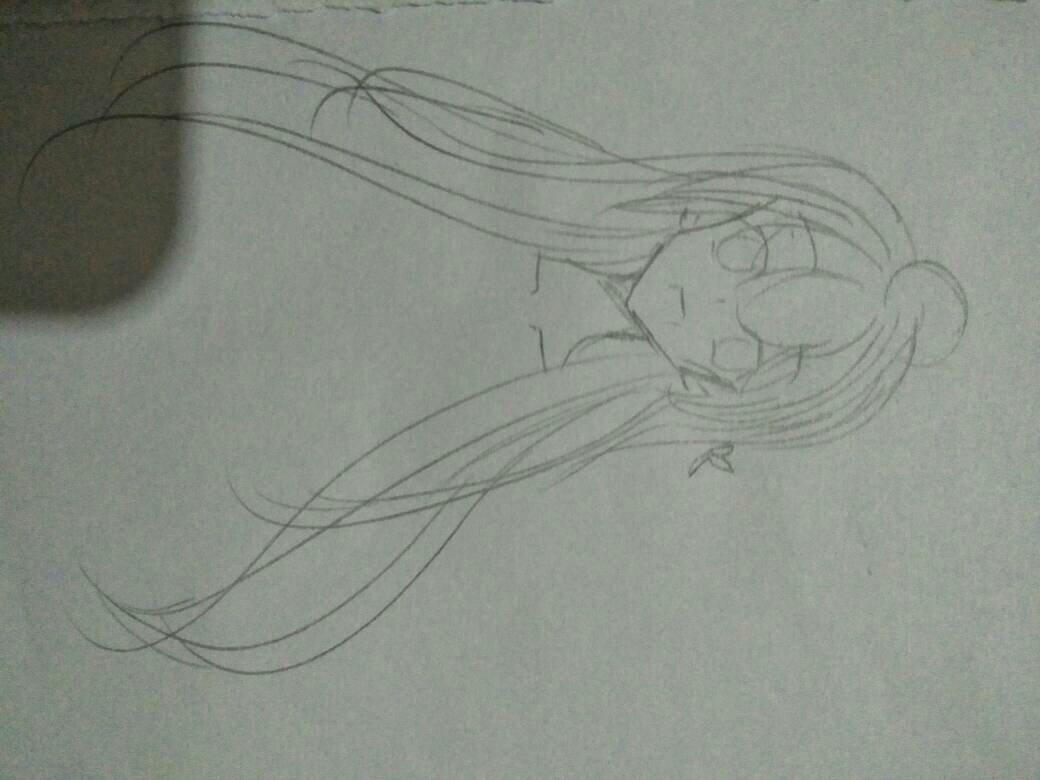 动漫人物女生怎么画头发