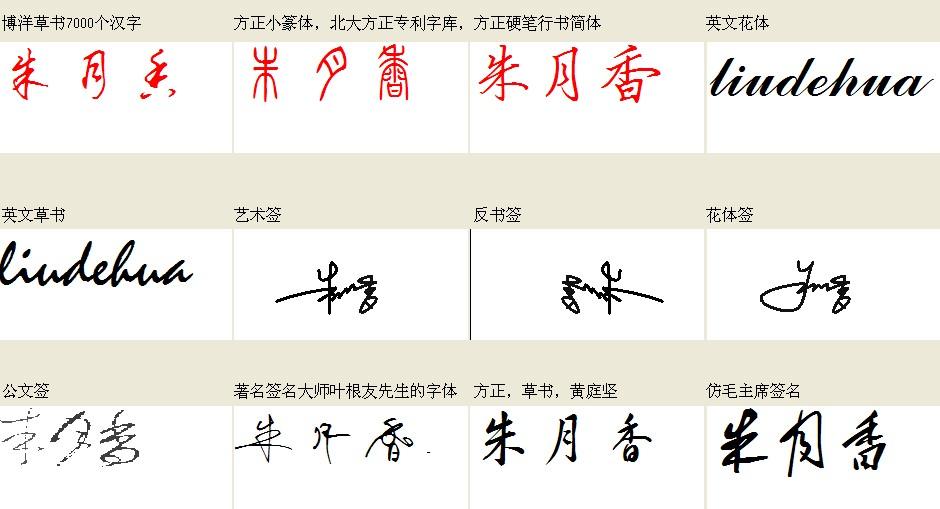 艺术签名设计免费版,姓名叫朱月香,帮忙设计一下图片