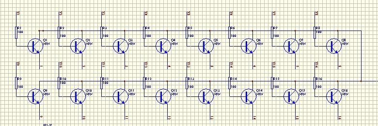 16*16点阵电路,用三极管驱动与用74hc373或者74hc595驱动阳极;哪个