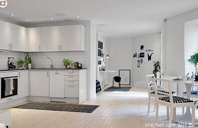 厨房瓷砖是白色的配什么颜色橱柜