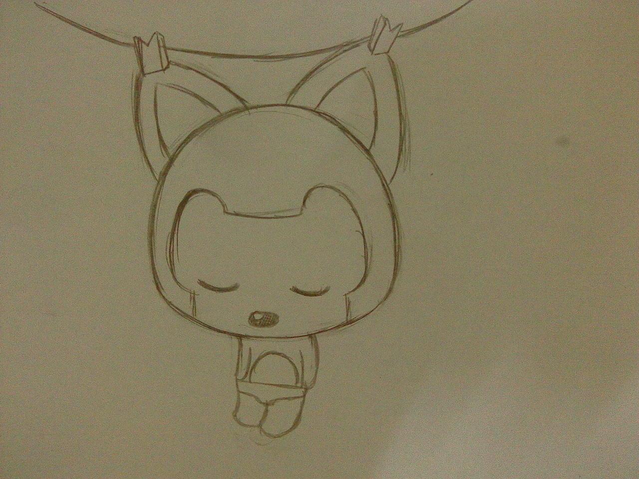 求可爱阿狸手绘图,要知友自己画的哟!