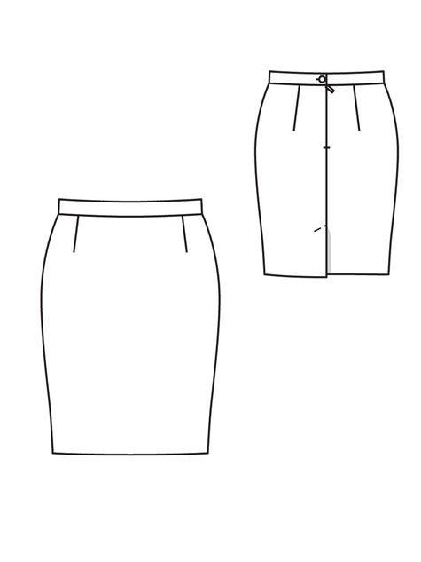 荷叶裙手绘款式图