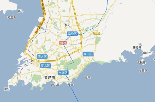 青岛崂山区离栈桥有多远?