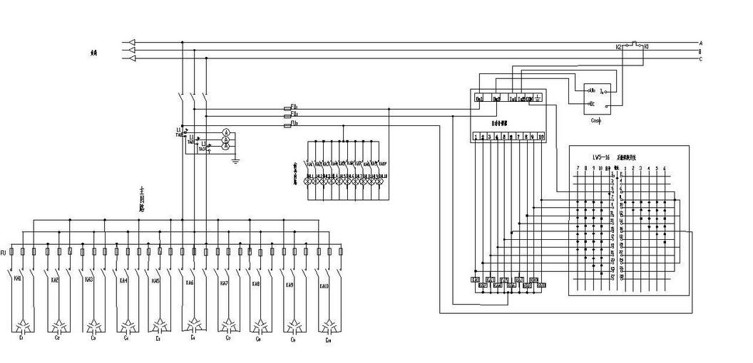 160kva变压器无功补偿器接线图