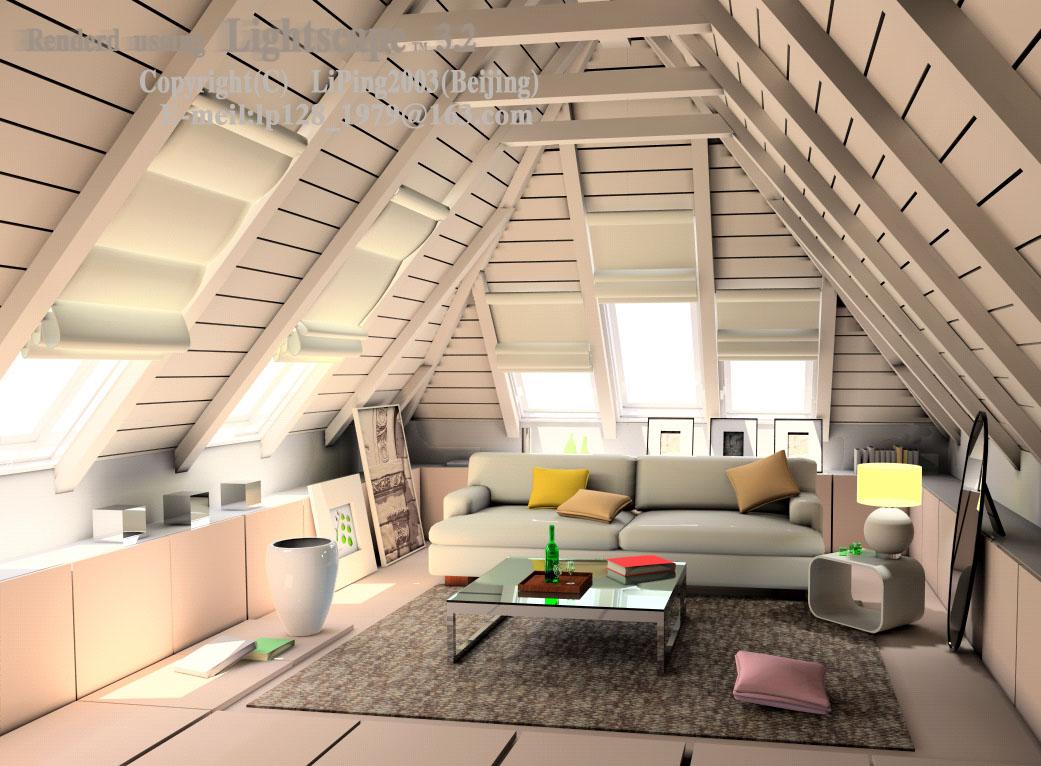 房高比较高的话,可以做出坡屋顶的感觉,效果也很好啊.