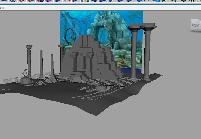 maya场景模型图片