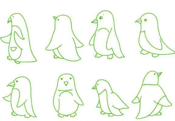 企鹅怎么画