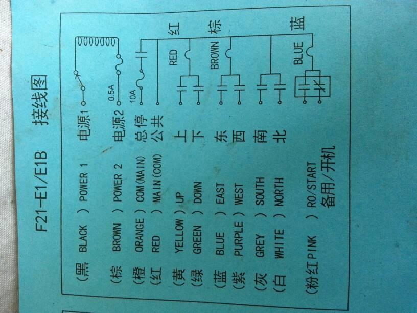天车遥控器 f21-e1 rx怎么接线,有接线图,但是不懂电工看不明白!