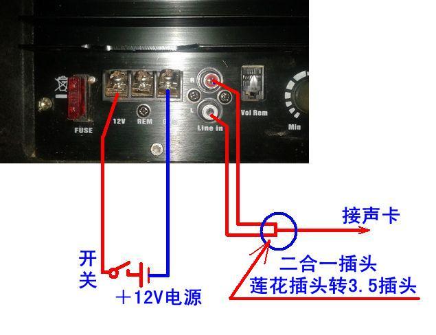 车载低音炮怎么接电脑?