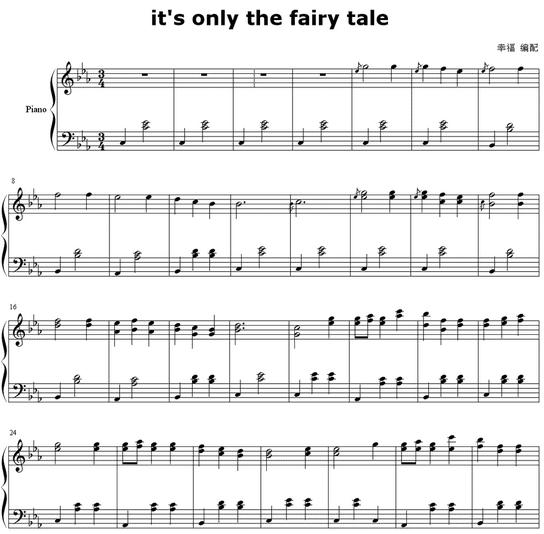 陶笛谱或简谱 it is only the fairy tale