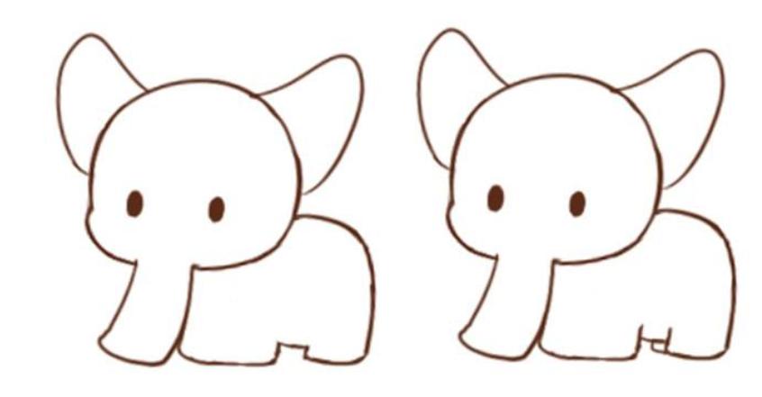 可爱小象简笔画,简单易学,你学会了吗