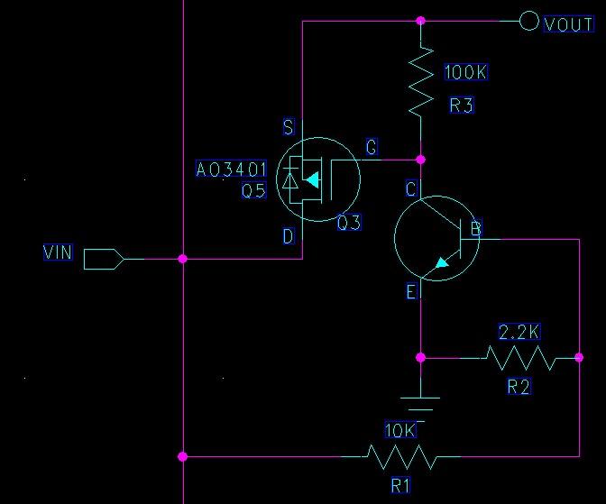 pmos管开关电路,d,s极反接,反电流倒灌电路请教.