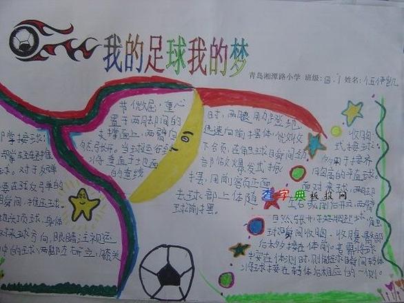 中国梦足球梦的手抄报怎么写